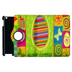 Happy Easter Butterfly Love Flower Floral Color Rainbow Apple Ipad 2 Flip 360 Case by Mariart