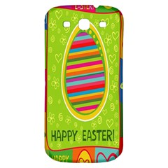 Happy Easter Butterfly Love Flower Floral Color Rainbow Samsung Galaxy S3 S Iii Classic Hardshell Back Case by Mariart