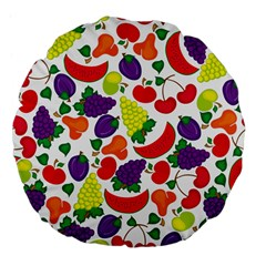 Fruite Watermelon Large 18  Premium Flano Round Cushions by Mariart