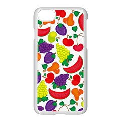 Fruite Watermelon Apple Iphone 7 Seamless Case (white) by Mariart