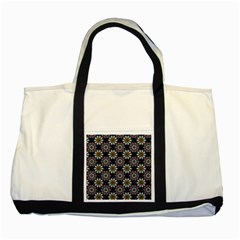 Floral Flower Star Blue Two Tone Tote Bag by Mariart