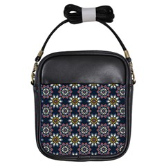 Floral Flower Star Blue Girls Sling Bags by Mariart