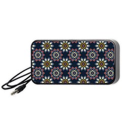 Floral Flower Star Blue Portable Speaker (black) by Mariart