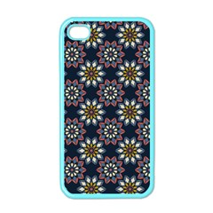 Floral Flower Star Blue Apple Iphone 4 Case (color) by Mariart