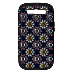 Floral Flower Star Blue Samsung Galaxy S III Hardshell Case (PC+Silicone) by Mariart