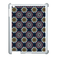 Floral Flower Star Blue Apple Ipad 3/4 Case (white) by Mariart