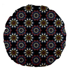 Floral Flower Star Blue Large 18  Premium Round Cushions by Mariart
