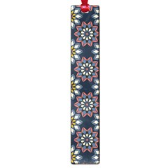 Floral Flower Star Blue Large Book Marks by Mariart