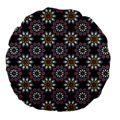 Floral Flower Star Blue Large 18  Premium Flano Round Cushions by Mariart