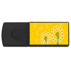 Leaf Flower Floral Sakura Love Heart Yellow Orange White Green Usb Flash Drive Rectangular (4 Gb) by Mariart