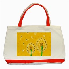 Leaf Flower Floral Sakura Love Heart Yellow Orange White Green Classic Tote Bag (red) by Mariart