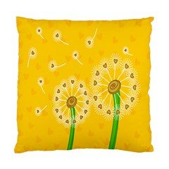 Leaf Flower Floral Sakura Love Heart Yellow Orange White Green Standard Cushion Case (two Sides) by Mariart