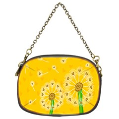 Leaf Flower Floral Sakura Love Heart Yellow Orange White Green Chain Purses (two Sides)  by Mariart