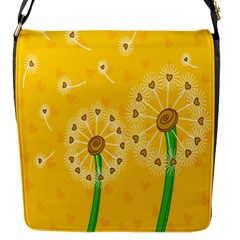 Leaf Flower Floral Sakura Love Heart Yellow Orange White Green Flap Messenger Bag (s) by Mariart