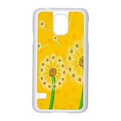 Leaf Flower Floral Sakura Love Heart Yellow Orange White Green Samsung Galaxy S5 Case (white) by Mariart