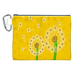 Leaf Flower Floral Sakura Love Heart Yellow Orange White Green Canvas Cosmetic Bag (xxl) by Mariart