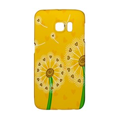 Leaf Flower Floral Sakura Love Heart Yellow Orange White Green Galaxy S6 Edge by Mariart