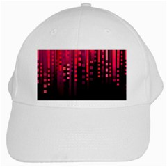 Line Vertical Plaid Light Black Red Purple Pink Sexy White Cap by Mariart