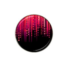 Line Vertical Plaid Light Black Red Purple Pink Sexy Hat Clip Ball Marker by Mariart