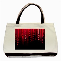Line Vertical Plaid Light Black Red Purple Pink Sexy Basic Tote Bag by Mariart