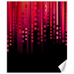 Line Vertical Plaid Light Black Red Purple Pink Sexy Canvas 8  X 10  by Mariart