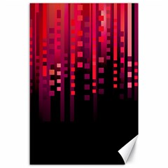 Line Vertical Plaid Light Black Red Purple Pink Sexy Canvas 24  X 36  by Mariart