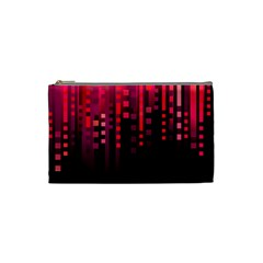 Line Vertical Plaid Light Black Red Purple Pink Sexy Cosmetic Bag (small)  by Mariart