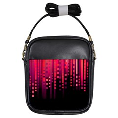 Line Vertical Plaid Light Black Red Purple Pink Sexy Girls Sling Bags by Mariart
