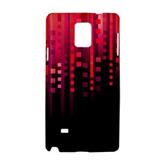 Line Vertical Plaid Light Black Red Purple Pink Sexy Samsung Galaxy Note 4 Hardshell Case by Mariart