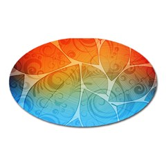 Leaf Color Sam Rainbow Oval Magnet by Mariart