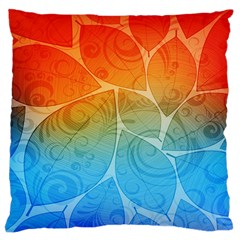 Leaf Color Sam Rainbow Large Cushion Case (one Side) by Mariart