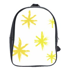 Line Painting Yellow Star School Bags(large)  by Mariart