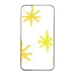 Line Painting Yellow Star Apple Iphone 4/4s Seamless Case (black) by Mariart