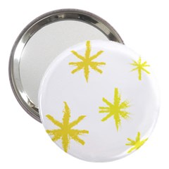 Line Painting Yellow Star 3  Handbag Mirrors by Mariart