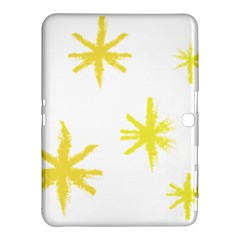 Line Painting Yellow Star Samsung Galaxy Tab 4 (10 1 ) Hardshell Case  by Mariart