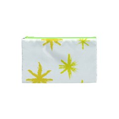 Line Painting Yellow Star Cosmetic Bag (xs) by Mariart