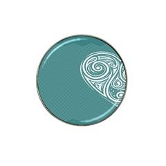 Line Wave Chevron Star Blue Love Heart Sea Beach Hat Clip Ball Marker (10 Pack) by Mariart
