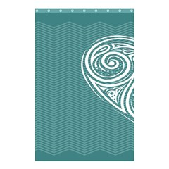 Line Wave Chevron Star Blue Love Heart Sea Beach Shower Curtain 48  X 72  (small)  by Mariart
