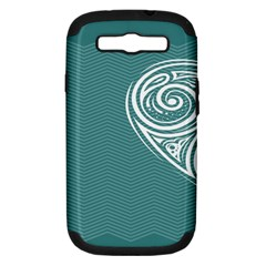 Line Wave Chevron Star Blue Love Heart Sea Beach Samsung Galaxy S Iii Hardshell Case (pc+silicone) by Mariart