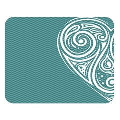Line Wave Chevron Star Blue Love Heart Sea Beach Double Sided Flano Blanket (large)  by Mariart