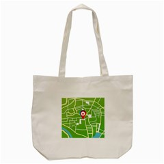 Map Street Star Location Tote Bag (cream) by Mariart