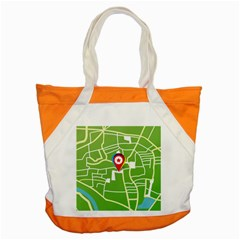 Map Street Star Location Accent Tote Bag by Mariart