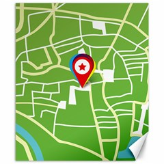 Map Street Star Location Canvas 8  X 10  by Mariart