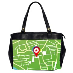 Map Street Star Location Office Handbags (2 Sides)  by Mariart