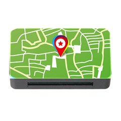 Map Street Star Location Memory Card Reader With Cf by Mariart
