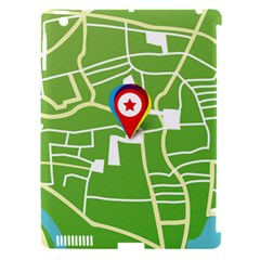 Map Street Star Location Apple Ipad 3/4 Hardshell Case (compatible With Smart Cover) by Mariart
