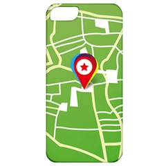 Map Street Star Location Apple Iphone 5 Classic Hardshell Case by Mariart