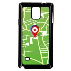 Map Street Star Location Samsung Galaxy Note 4 Case (black) by Mariart