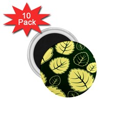 Leaf Green Yellow 1 75  Magnets (10 Pack)  by Mariart