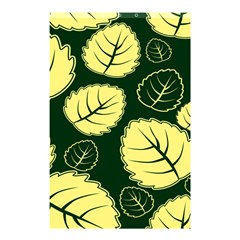 Leaf Green Yellow Shower Curtain 48  X 72  (small)  by Mariart